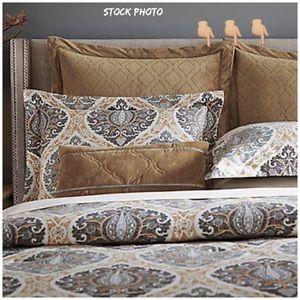 Inspired By Kravet Jaipur Gold Euro Pillow Shams